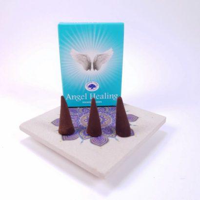Conuri parfumate Angel Healing pe suport ceramic