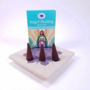 Conuri parfumate Angel Healing pe suport ceramic mandala