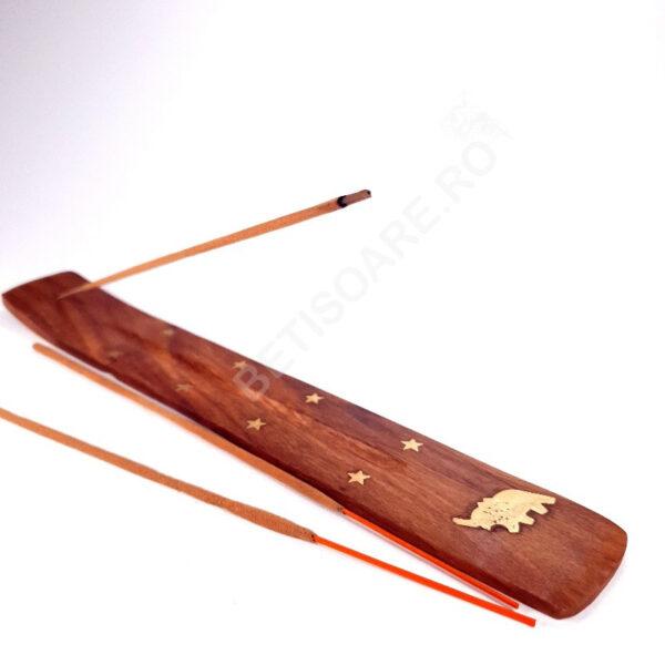 Suport din lemn pentru ars betisoare parfumate