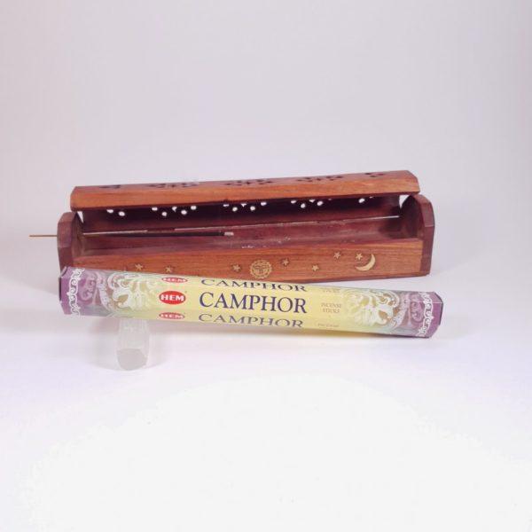 Betisoare parfumate si cutie din lemn