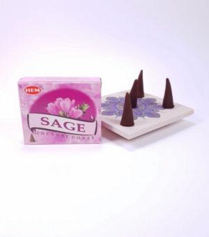 Conuri parfumate Sage, Salvie, realizate in India de compania HEM