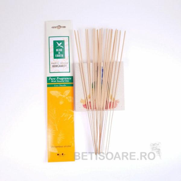 Betisoare parfumate Bergamot, Herb&Earth