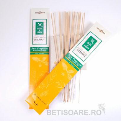 Betisoare parfumate Bergamot, din gama Herb&Earth