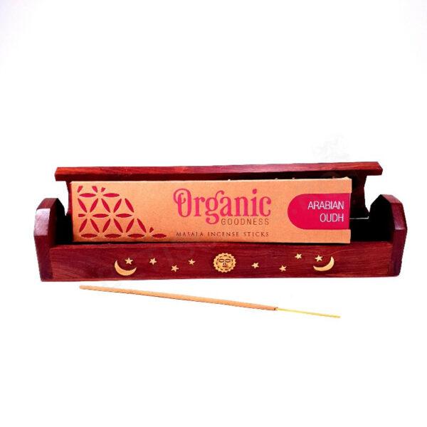 Cutie cu betisoare parfumate ORGANIC Oudh