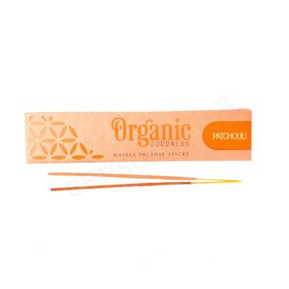 Cutie cu betisoare parfumate Patchouli, gama Organic