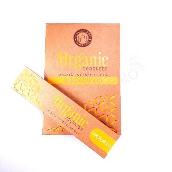 Betisoare parfumate ORGANIC Sandalwood Song of India