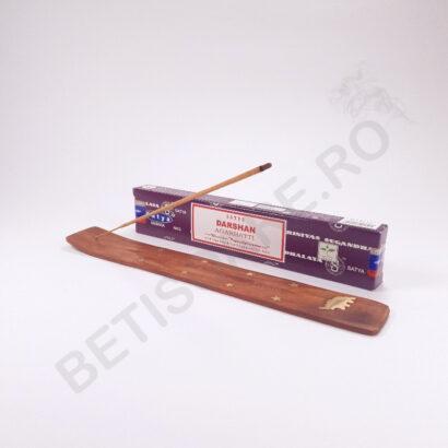 Betisoare parfumate Satya Dharshan si suport din lemn