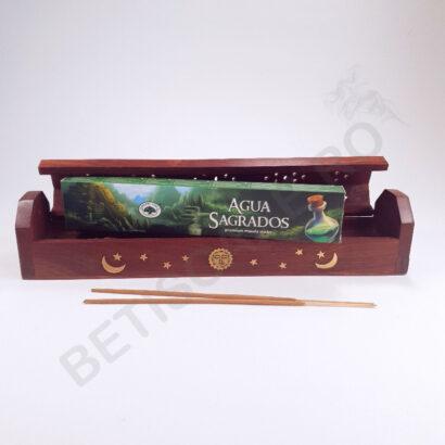 Cutie cu betisoare parfumate Agua Sagrados realizate in India