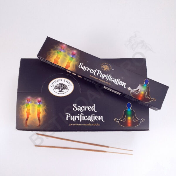 Fotografie cutie cu betisoare parfumate Green Tree sacred purification
