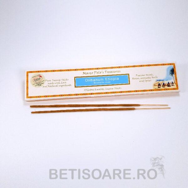 Betisoarele parfumate tamaie Olibanum Etiopia, de la Marcos Polo Treasures, pentru fumigații, sunt realizate din ingrediente naturale