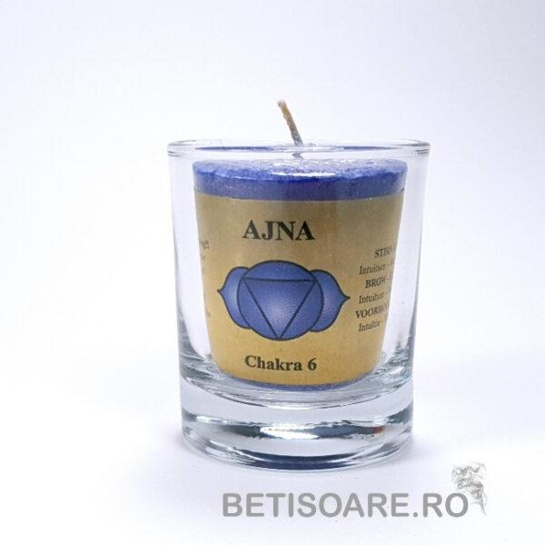 Lumanare uleiuri esențiale chakra Ajna, cel de-al treilea ochi, mică