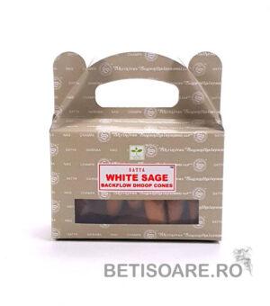 Fotografie cutie conuri parfumate backflow Satya White Sage