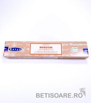 Betisoare parfumate Satya Benzoin, cutie 15 gr